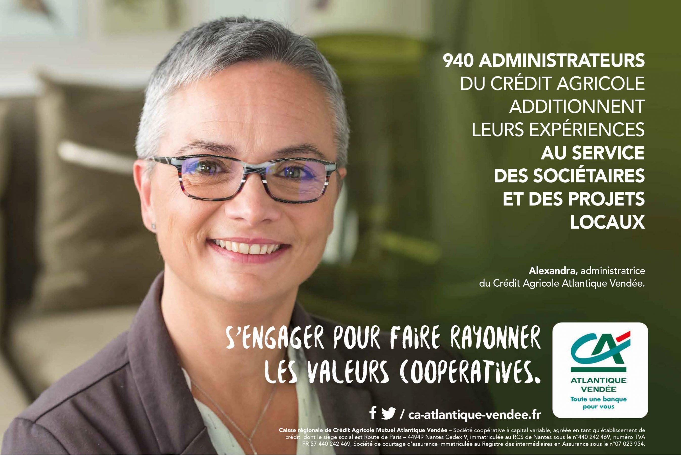 Agence conseil en communication nantes LATITUDE Client credit agricole affiche
