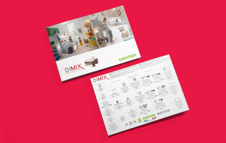 Agence conseil en communication LATITUDE client gautier brochure