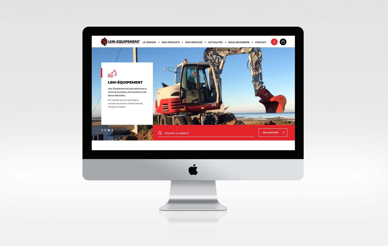 Agence conseil en communication nantes LATITUDE Client lem equipement site web