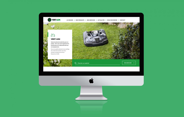 Agence conseil en communication nantes LATITUDE Client vert lem site web
