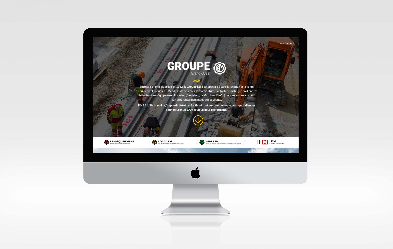 Agence conseil en communication nantes LATITUDE Client groupe lem site web