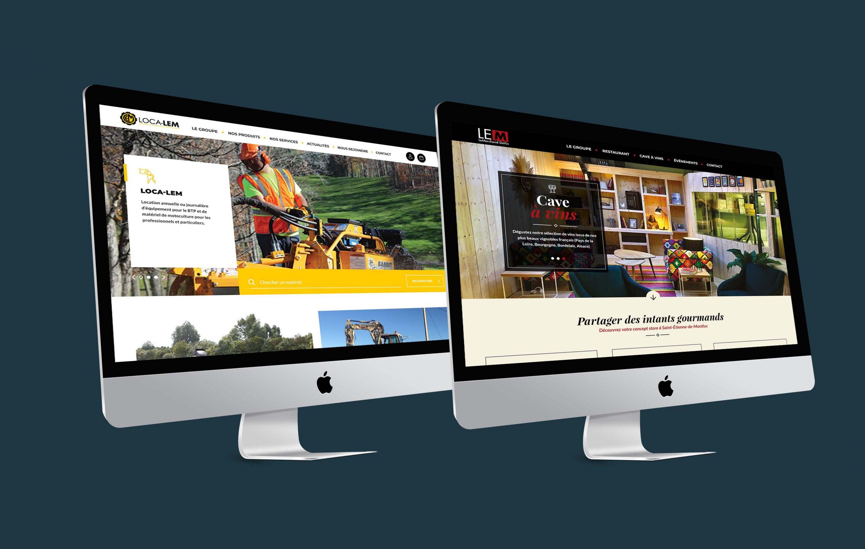 Agence conseil en communication nantes LATITUDE Client loca lem marchand de vin site web