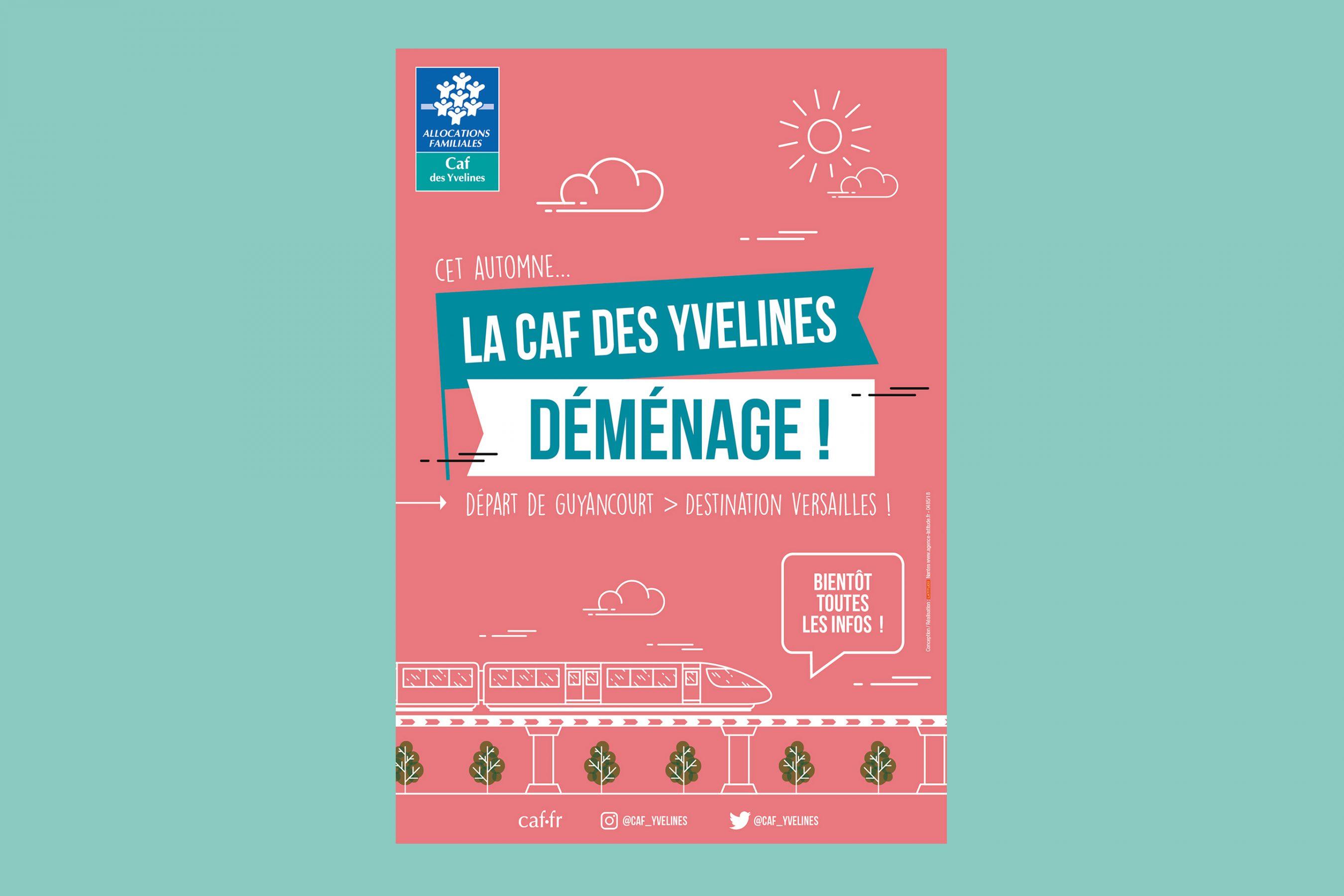Agence conseil en communication nantes LATITUDE client caf des yvelines affiche