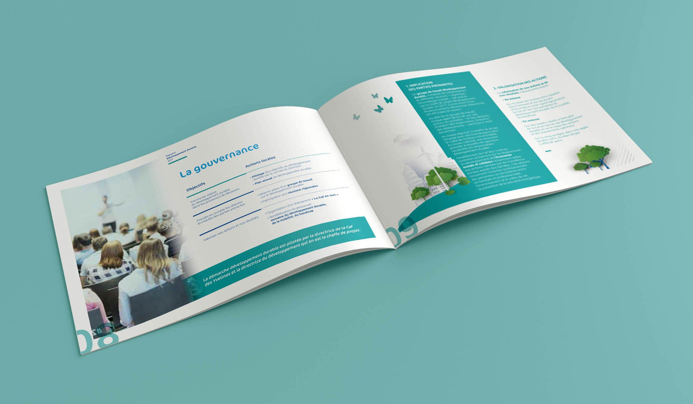 Agence conseil en communication nantes LATITUDE client caf des yvelines brochure